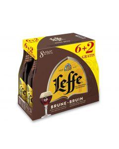 Leffe Bruin (6+2) clip 8 x 33cl