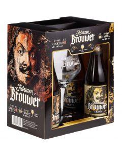 Adriaen Brouwer geschenk 4x33cl + glas