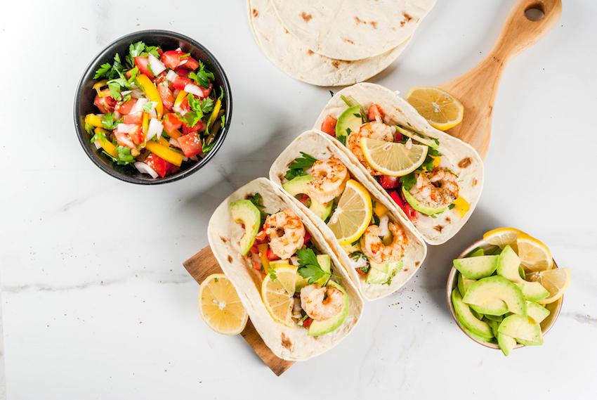Prik en Tik - Fruitbieren - Scampi taco's